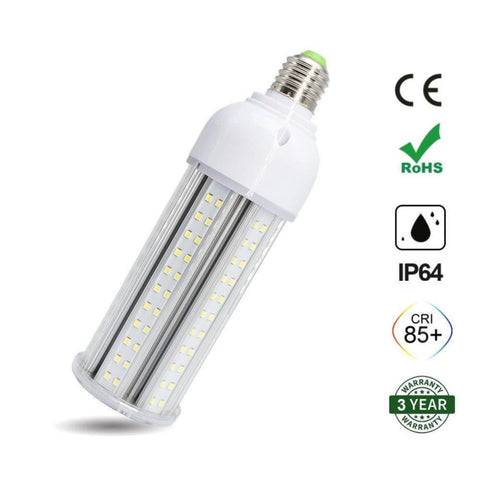 LED Corn Light Bulb, E26 Medium Screw Base, Metal Halide Replacement for Indoor Outdoor Large Area Lighting, Street and Area Light, HID, Hp