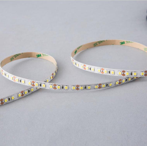 Image of DC12V Red/Blue/Yellow/Green 84W 7A 5Meter (16.4Ft) SMD2835 600LEDs/Roll Color Rendering Index CRI80 Flexible LED Strips 1900LM/M 8mm Wide White PCB