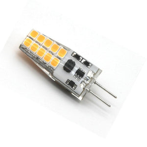 10 Pack G4 LED Light Bulb Bi-Pin Silicon Encapsulation 12V 2.5 W CRI>80 290-310Lumen 20x2835 LEDs 25W Equivalent