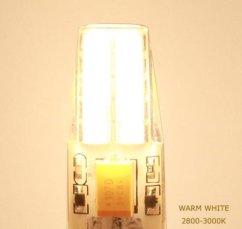 Image of 10 Pack G4 LED Light Bulb Bi-Pin Silicon Encapsulation 12V 2.5 W CRI>80 290-310Lumen 20x2835 LEDs 25W Equivalent