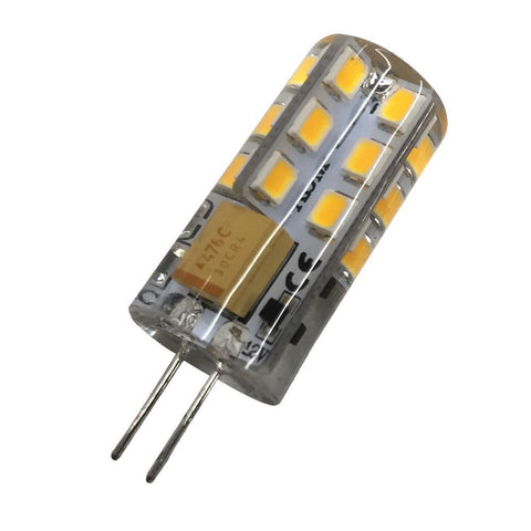Image of 10 Pack G4 LED Light Bulb Bi-Pin Silicon Encapsulation 12V 2.5 W 150-180Lumen 24x2835 LEDs Dimmable 25W Equivalent