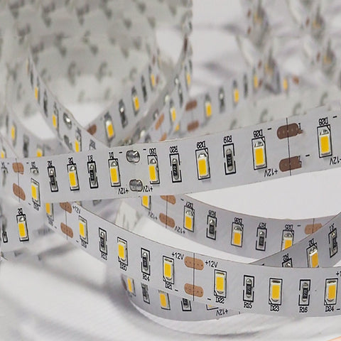Image of DC 12V Dimmable 670NM Red SMD2835-300 Flexible LED Strips 60 LEDs Per Meter 8mm Width 12W Per Meter