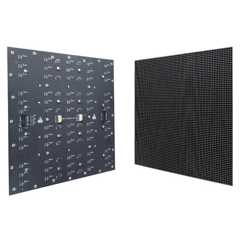Image of M-F3.8 (P3.8) Bare Board LED Module, 3.8mm Full RGB Pixel Panel Screen in 304.8 * 304.8 mm ( 1sq.ft) with 6400 dots, 1/20 Scan, 800 Nits LED Tile for Indoor Display