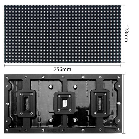 Image of New Generation M-WF3.2 P3.2 (3.2mm) Outdoor Waterproof LED Module, 3.2mm Pixel Pitch Full RGB LED Panel Screen in 256* 128 mm with 3200 dots, 1/20 Scan, 4500 Nits For Outdoor Display