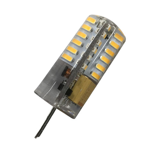 Image of 10 Pack G4 LED Light Bulb Bi-Pin Silicon Encapsulation 12V 2W 140-160Lumen 48x3014 LEDs Dimmable 20W Equivalent