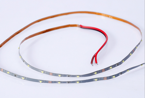 Image of 3MM Wide Super Narrow 5Meter Roll 12V DC SMD0805 3.5Watt/M 60LED per Meter LED Flexible Strip for Sand Table, Scale Model lighting