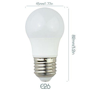 6 Pack 3Watt 250LM G4 LED Bulb Light (25W Equivalent) E27 Screw Base 100-240V AC Non-dimmable 50mm White Light LED Globe