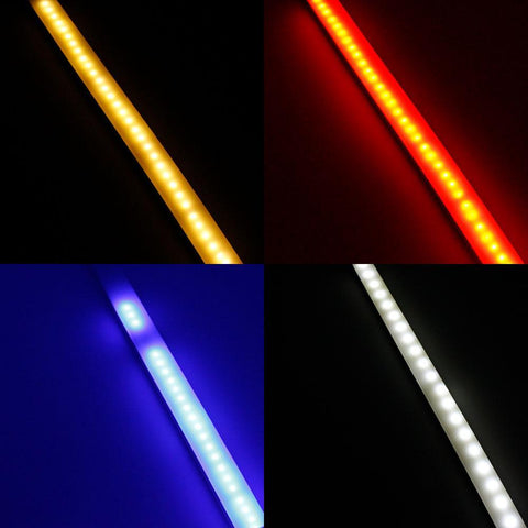 Image of 1M/5M/10M  Pack of T2014 LED Neon Light Housing Kit with End Caps and Mounting Clips, Flexible Neon Channel Fit for 12mm Wide LED Strip Lights