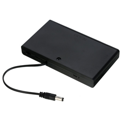 Hot Sale 8x AA Battery 12V Storage Holder Box Case Battery Pack with ON-OFF Switch Black with DC plug cable in side