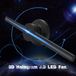 Free Shipping 43cm 3D Hologram WiFi App Control Advertising Display LED Fan- 2 Blades 640 Resolution Ideal for Store/Casino/,Restaurants/Bar Signs