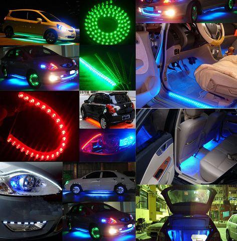 Image of 24cm/48cm/72cm/96cm/120cm Waterproof Flexible Grill LED Strip Light for Motorcycle, Car Lighting