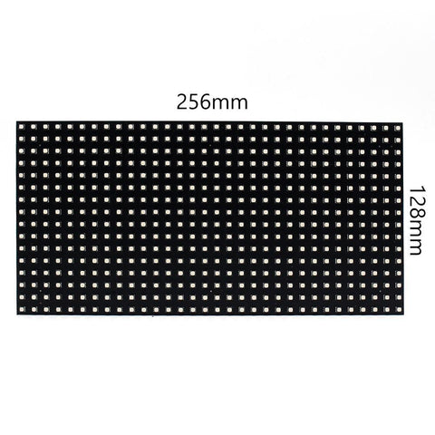 Image of M-F8 (P8 Base Board LED Module, 8mm Full RGB Pixel Panel Screen in 256 * 128 mm with 512 dots, 1/8 Scan, 4500 Nits LED Tile for Indoor Display