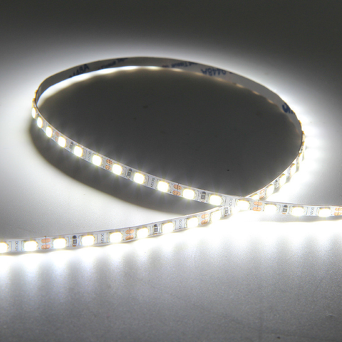 Image of 4mm Wide Super Slim DC 12V Dimmable SMD2835-600 Flexible LED Strips 10Watt/Meter 1000LM/M 120 LEDs Per Meter White FPCB Background  LED Tape Light