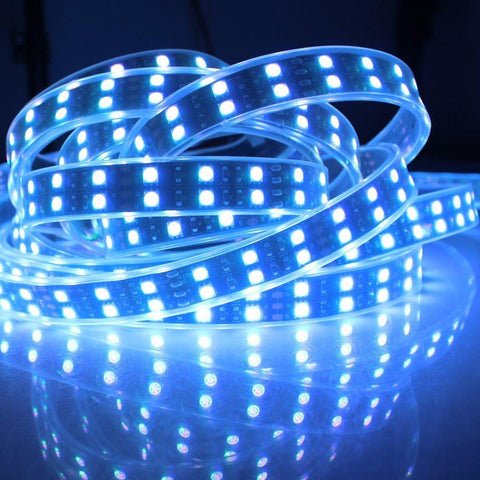 Image of DC 12V RGB Color Changing SMD5050-600 Double Row Flexible LED Strips 120 LEDs Per Meter 15mm Width