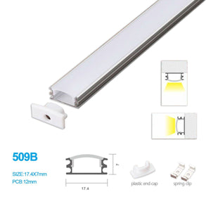 5/10/25/50 Pack  17.4MM*7MM Ceiling Mounted Or Wall Mounted LED Aluminum Profile with Arch Cover for LED Rigid Strip Lighting System