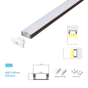 5/10/25/50 Pack  17.4MM*7MM Ceiling Mounted or Wall Mounted LED Aluminum Profile with Arch Cover for LED Rigid Strip Lighting Application