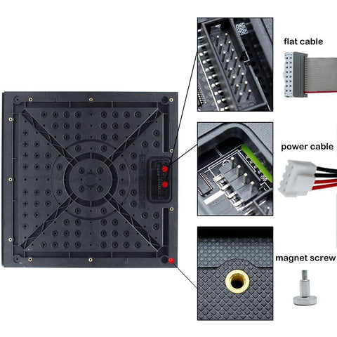 Image of M-ID4.81 P4.81 Rental Sereis LED Module,Full RGB 4.81mm Pixel Pitch LED Display Tile in 250*250mm with 2704 dots, 1/13 Scan, 800 Nitsfor indoor Display