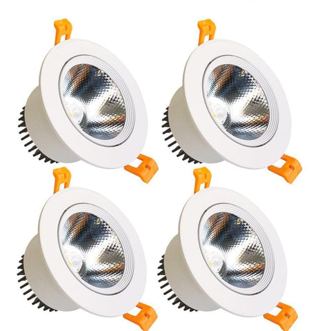 LED Downlight 9W Dimmable CRI80 COB Directional Recessed Ceiling Light Cut-out 3.35in (85mm) 60 Beam Angle 80W Halogen Bulbs Equivalent