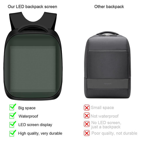 Image of Free Shipping 3rd New Generation Dynamic Displayed LED Backpack APP Controlled LED Advertising Bag