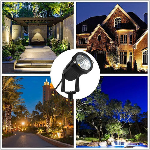 Image of 8W SMD3030 LED Landscape Lights 12V-24V Waterproof Garden Pathway Lights Walls Trees Flags Outdoor Spotlights with Spike Stand