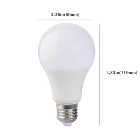 Image of 6 Pack 7Watt 600LM G60 LED Bulb Light (45W Equivalent) E27 Screw Base 100-240V AC Non-dimmable 60mm White Light LED Globe