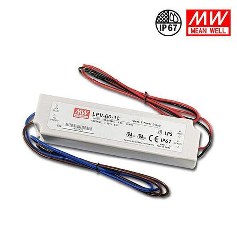 MEANWELL UL Certificated LPV series IP67 Waterproof Power Supply