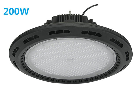 Image of Free Shipping 200W UFO LED High Bay Light Fixture 17000LM CRI>80 IP65 Waterproof 100-277VAC Non-Dimmable  for Warehouse & Supermarket