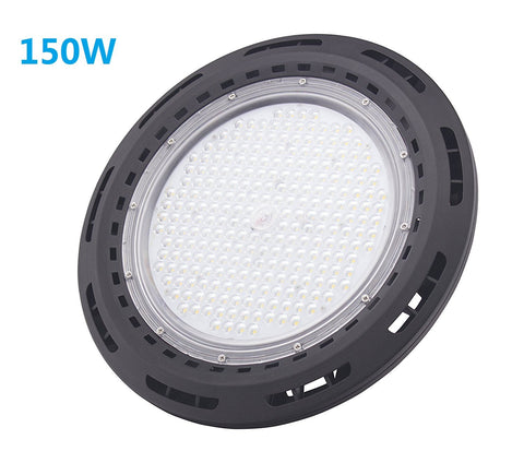 Image of Free Shipping 150W UFO LED High Bay Light Fixture 13000LM CRI>80 IP65 Waterproof 100-277VAC Non-Dimmable for Warehouse & Supermarket