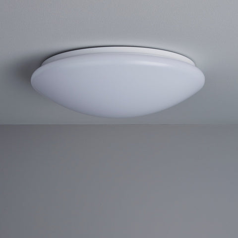 Image of 18W 11.4 Inch (290mm) LED Ceiling Light Fixture CCT changable & Dimmable with RF controller Round Acrylic Shade White Finish Modern LED Flush Mount