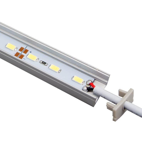 Image of 5 / 10 Pack 12V DC LED Surface Linear Profile LED Light Strip in Aluminum Profile with Cover for Under Cabinet Lighting