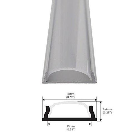 Image of 5Pack 1Meter (40'') Bendable Aluminum Channel System with Cover, End Caps, and Mounting Clips, for LED Strip Installations, Ultra-Thin Silver Finish