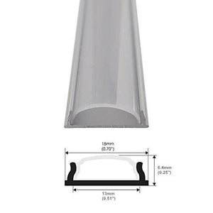 5Pack 1Meter (40'') Bendable Aluminum Channel System with Cover, End Caps, and Mounting Clips, for LED Strip Installations, Ultra-Thin Silver Finish