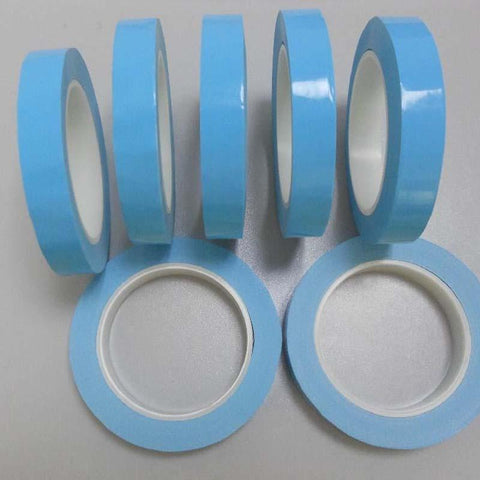50M Roll 0.2mm Thick 2500g Viscous Force Heat Resisiting Blue Coating Double Sided Tape Adhesive Stronger Stick for LED Strip Lights