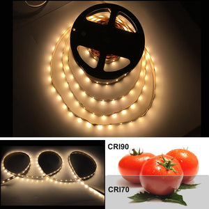 High CRI > 90 DC 12V Dimmable SMD2835-300 Flexible LED Strips 60 LEDs Per Meter 8mm Width 1000lm Per Meter