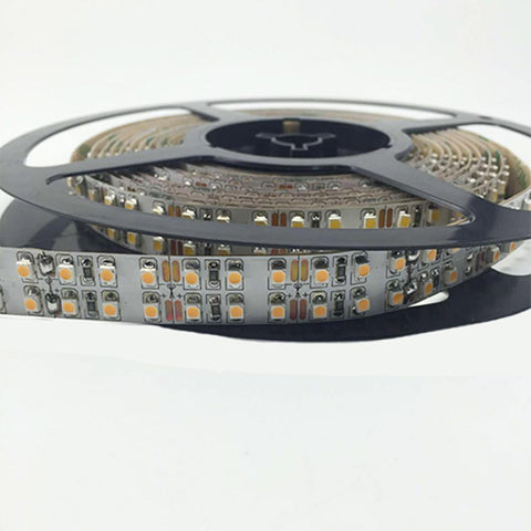 High CRI > 90 DC 12V SMD3528-1200 Double Row Flexible LED Strips 240 LEDs Per Meter 15mm Width 1200lm Per Meter