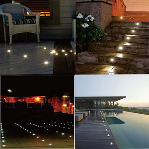 16 Pack Outdoor Recessed LED Deck Lights Kits IP67 Waterproof Inground LED Step Lights Kit for Garden, Yard, Steps, Bath Room and Kitchen