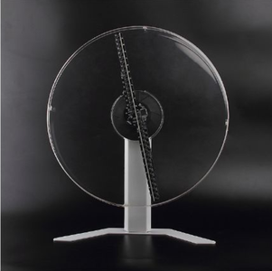 Free Shiping 43cm WIFI APP Control 3D Hologram Fan Unique Design with 40mm Slim Protective Cover Holograma Advertising Logo Projector LED Fan Display
