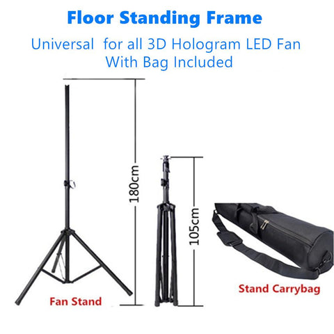 Free Shipping Floor Standing Frame for 3D Hologram Fan LED Display, Universal for all 42cm/43cm/50cm/65cm/70cm/100CM 3D LED Fan Display