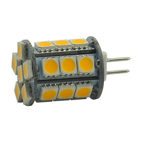 Image of 4 Pack 4.5 Watt (50Watt Equivalent) DC12V Tower type G4 Bi-pin base Lamps with 24 pcs Tri-Chip LED SMD5050