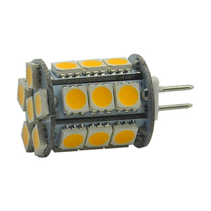 4 Pack 4.5 Watt (50Watt Equivalent) DC12V Tower type G4 Bi-pin base Lamps with 24 pcs Tri-Chip LED SMD5050
