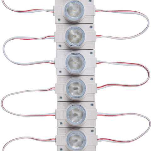 Image of 20pcs/pack LED Modules with Lens for Light Box DC12V 110LM 1.5W Waterproof IP65 with Adhesive Tape Back