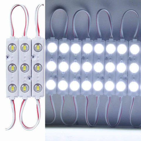 Image of 20pcs/pack LED Modules String with 5730 3 LED 160°Beam DC12V 90LM 1.5W Module Light  Waterproof IP67 with Adhesive Tape Back