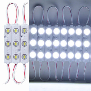 20pcs/pack LED Modules String with 5730 3 LED 160°Beam DC12V 90LM 1.5W Module Light  Waterproof IP67 with Adhesive Tape Back