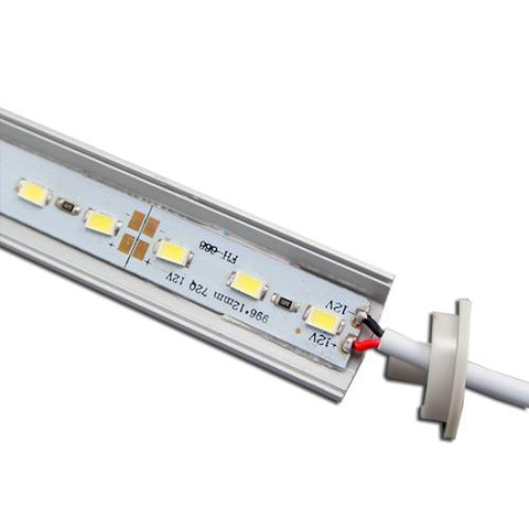 Image of 5 / 10 Pack 12V DC LED Corner Linear Profile LED Light Strip in Aluminum Profile with Cover for Under Cabinet Lighting