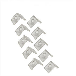10pcs Clear Plastic U or V Mounting Clips for U-Shape and V-Shape LED Strip Aluminum Channel (Fit Model U01, U02, U03, U04, U05, U06, V01, V02,V03)