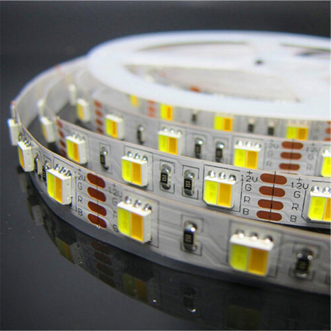 12VDC SMD5050-300-PWW 2 in 1 Dual White Color Temp-Adjustable Flexible LED Strip Light 60 LEDs Per Meter