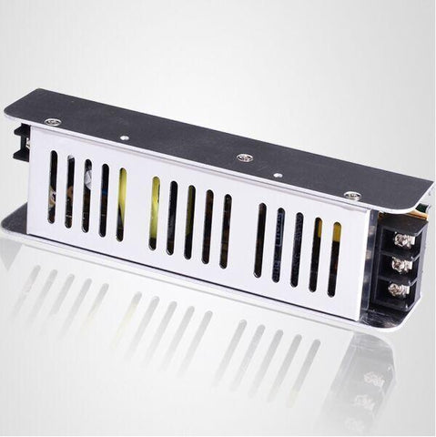 Image of Low Profile Slim Metal House Screw Terminal Adapter Power Supply 110-220V AC to 12V / 24V DC