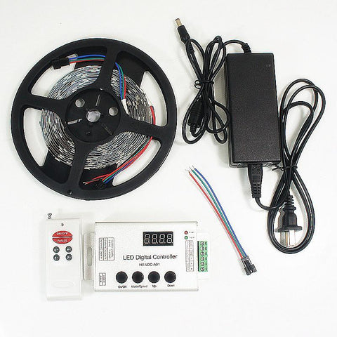 Image of 12VDC TM1914 IC Controlled Dream Color 5050 RGB Pixel LED Strip Kit 5 meters with 30LED/Mtr