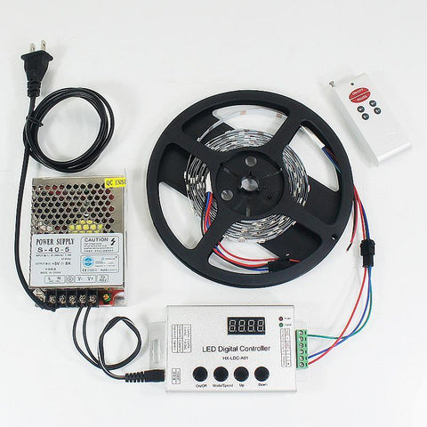 Image of DC 5V SK6812 Individually Addressable LED Strip Light 5050 RGB Pixel LED Strip Kit 5 meters with 30LEDs