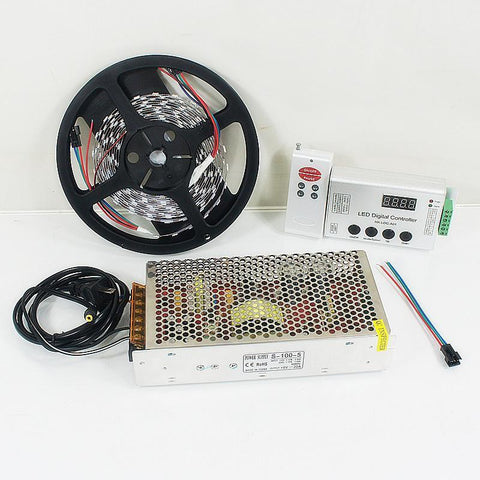 DC 5V SK6812 Individually Addressable LED Strip Light 5050 RGB Pixel LED Strip Kit 5 meters with 60LEDs